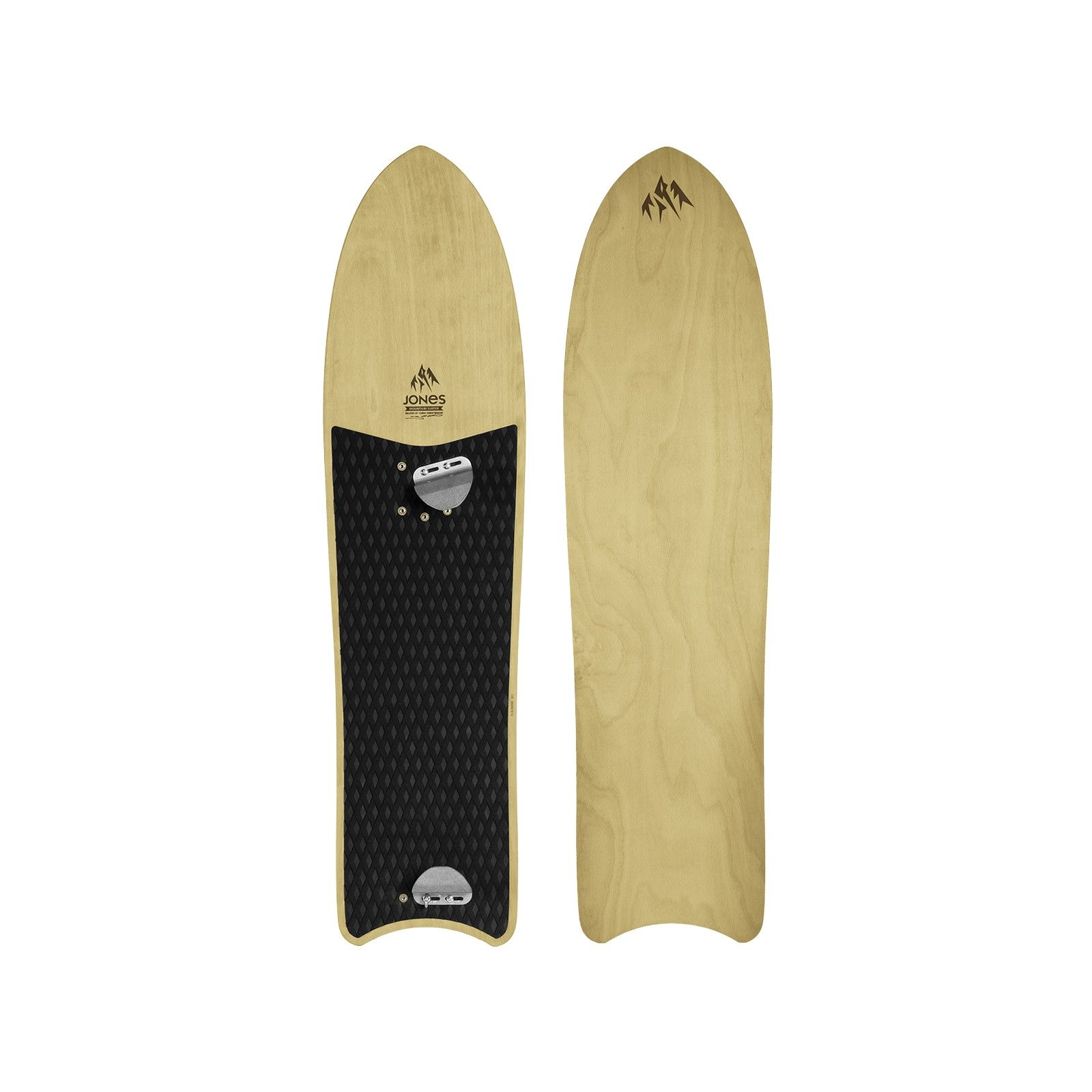 Jones Snowboards - The Journey Is The Reward - Mountain Surfer: all wood, no bindings, good for beginners, 70's snurfer style