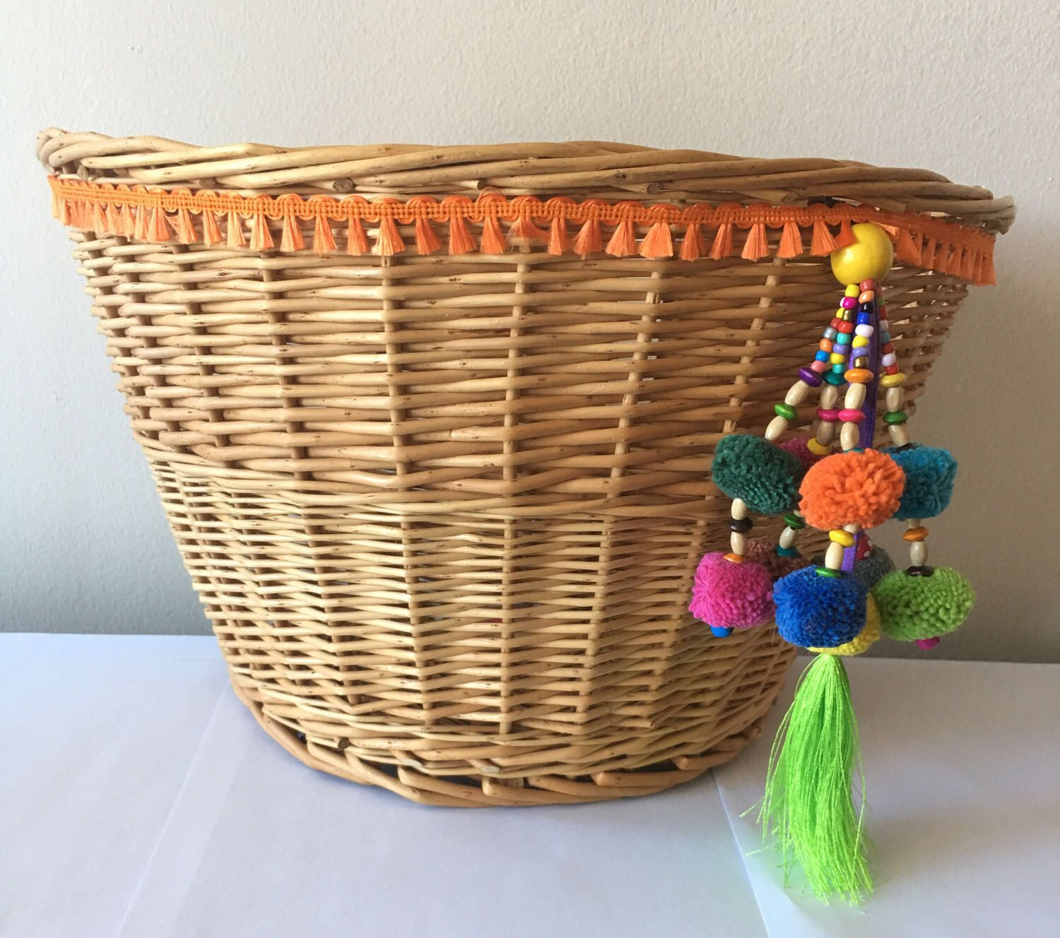 #boho #bicyclebaskets A personal favorite from my Etsy shop https://www.etsy.com/listing/521481161/wicker-bike-basket