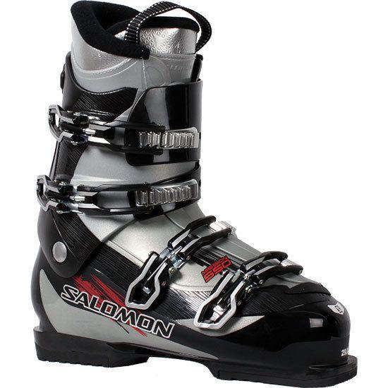 Salomon Mission 550 Ski Boots Black Silver 26 5 Silver Black Boots Mission Salomon Boots Ski Boots Winter Sport Gear