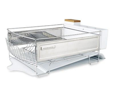 Cuisinart Dish Rack Captivating Williams Sonoma Stainlesssteel Dish Rack Large White  Pinterest Inspiration