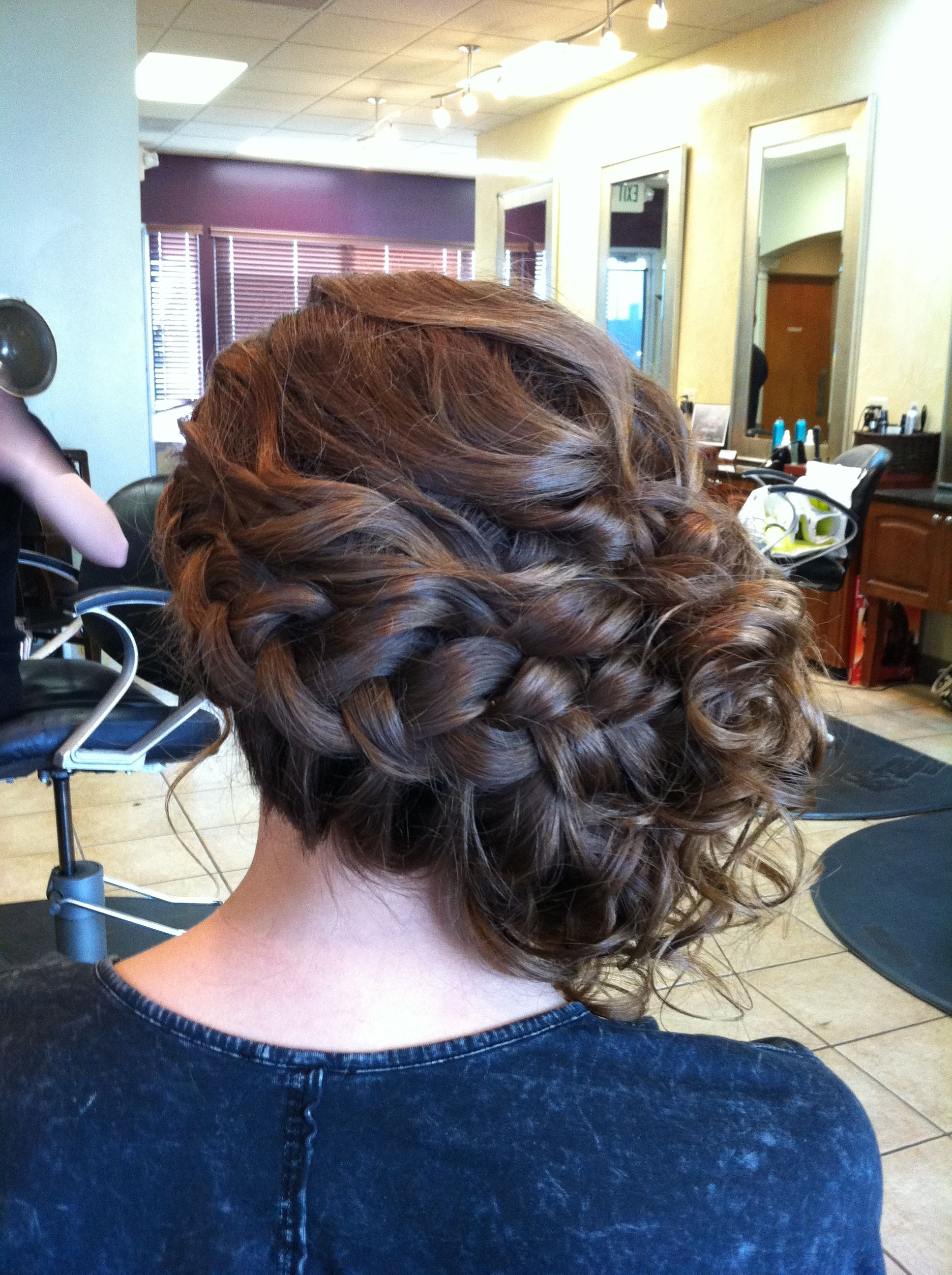 Braided side updo mary powers powers powers powers kathryn mclucas