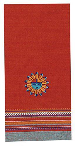 Best Kitchen Curtains | Kay Dee Designs F0618 Southwest Sun Embroidered Tea  Towel ** Details
