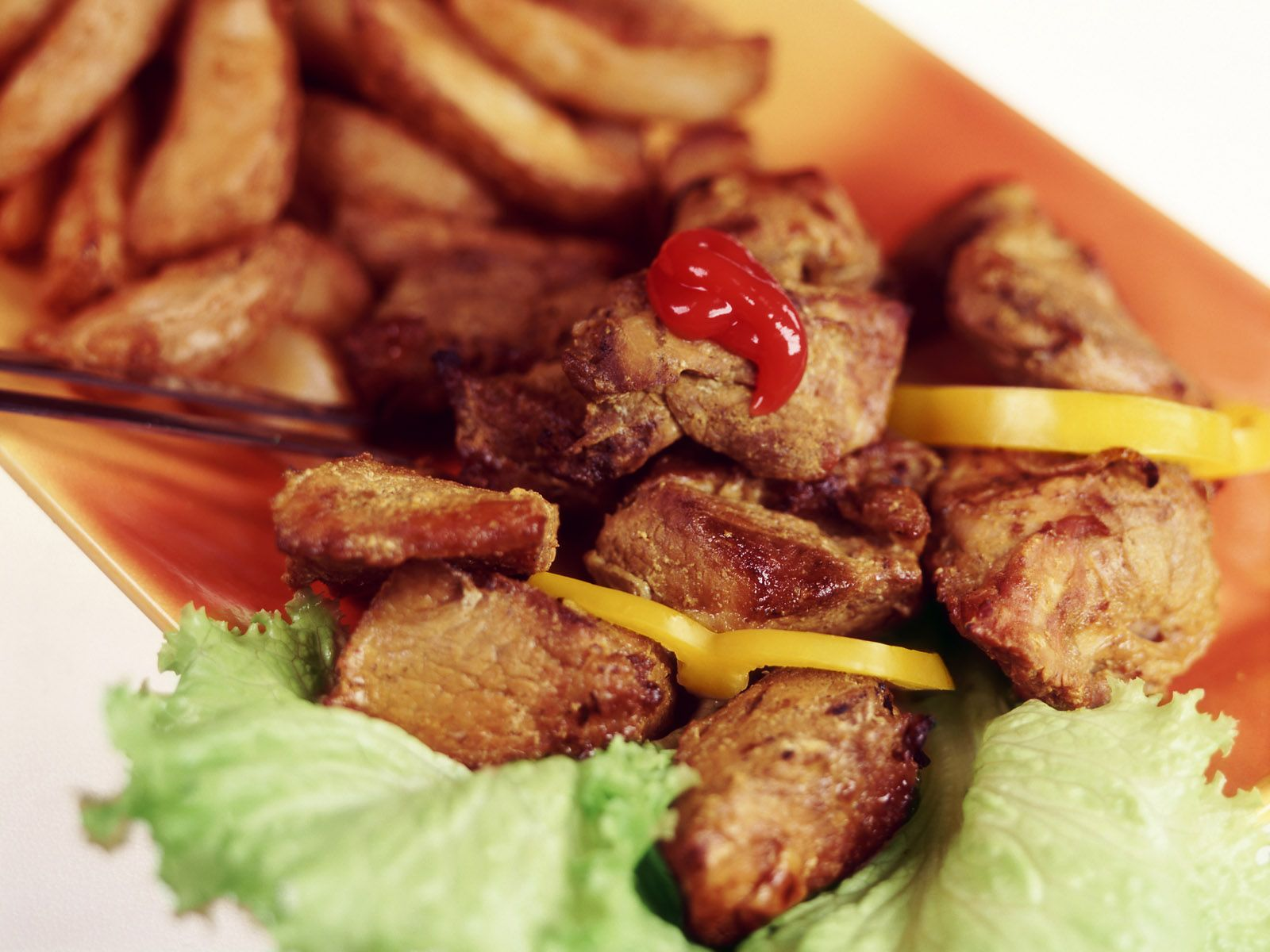 Crispy pieces of meat