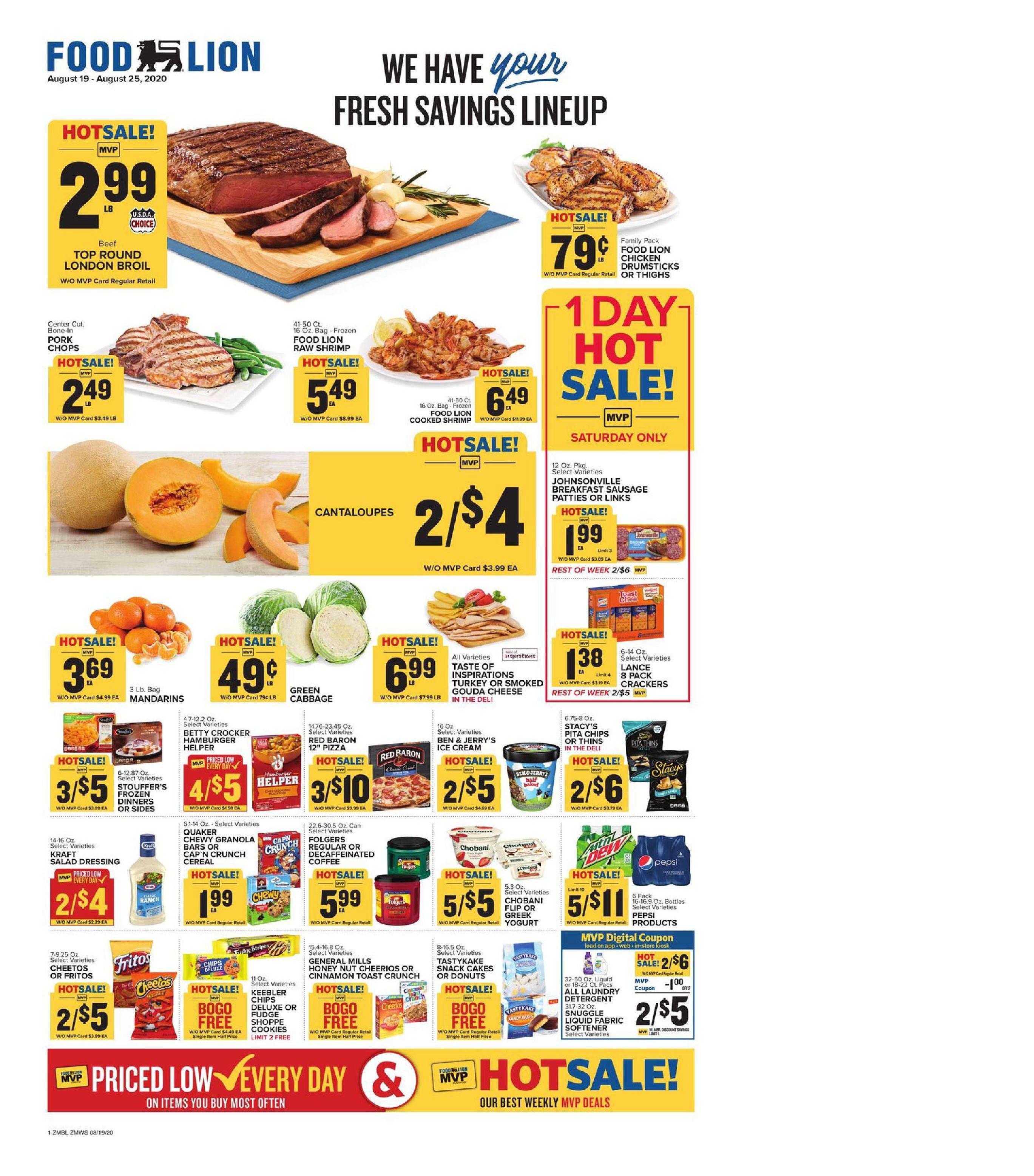 Food lion weekly ad aug 19 aug 25 2020 sneak peek