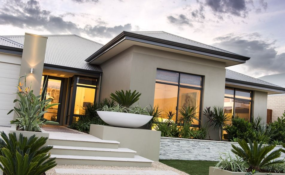 Front Elevation Australia : Stunning elevation with elevated feature recess and front