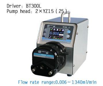 BT300L 2X YZ15 Intelligent peristaltic pump  Water Liquid Industry Laboratory Flow Control Pump 0.006-990ml/min