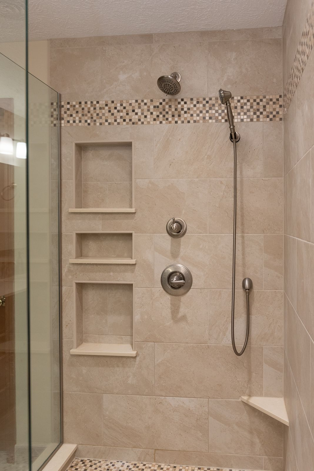 Decorative Tile Band Recessed Shelving Showers In 2019