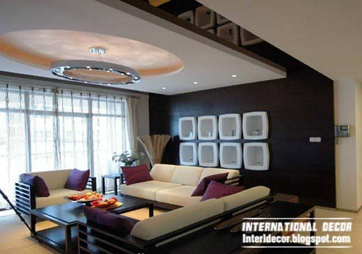 Amazing 10 False Ceiling Modern Design Interior Living Room Part 15