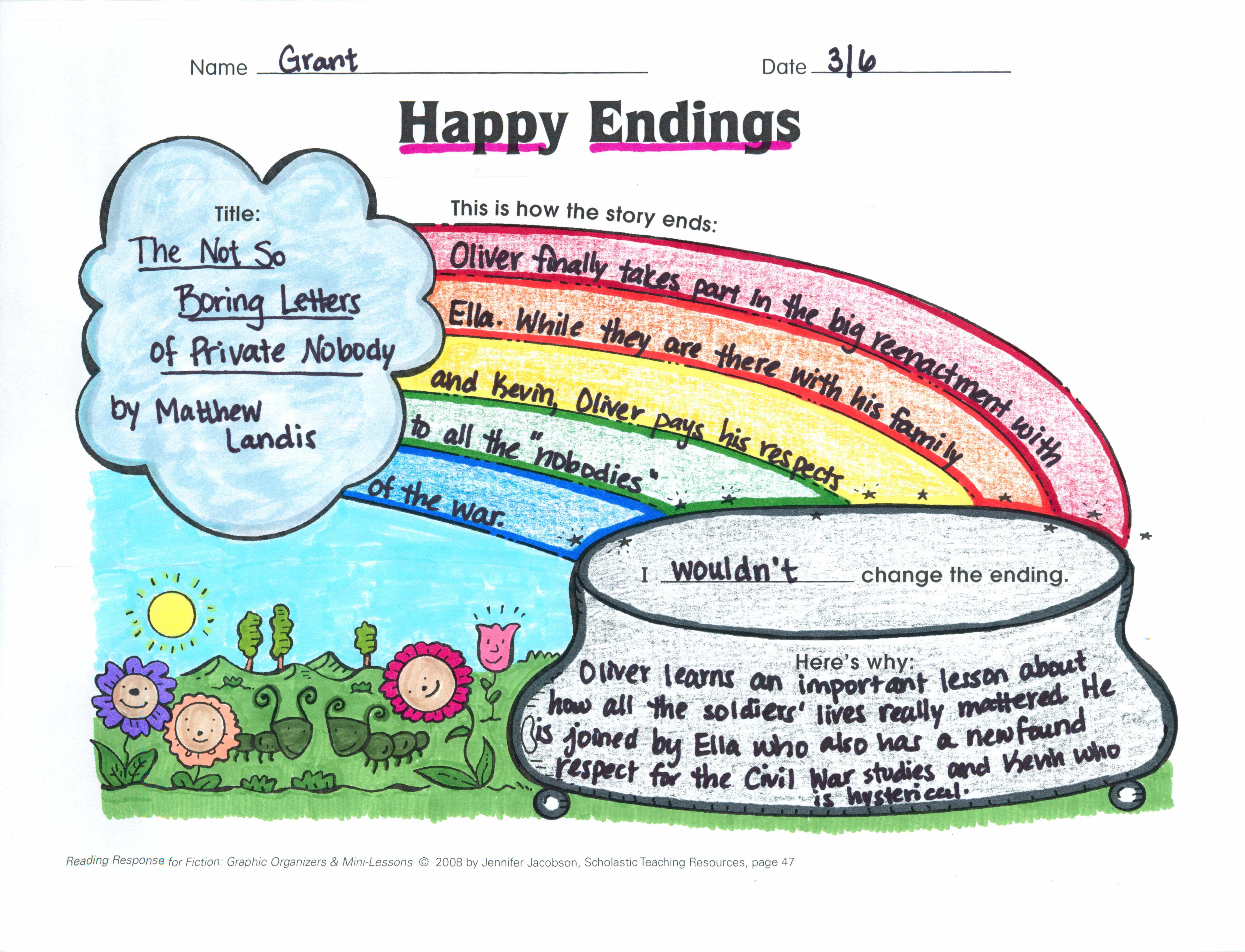 Happy Endings Analyzing Story Endings Graphic Organizer Rl 2 5 Rl 3 3 Rl 4 1 W 2 1 W 3 1 A W 3 1 B W 3 1 D W Graphic Organizers Happy Endings Lesson