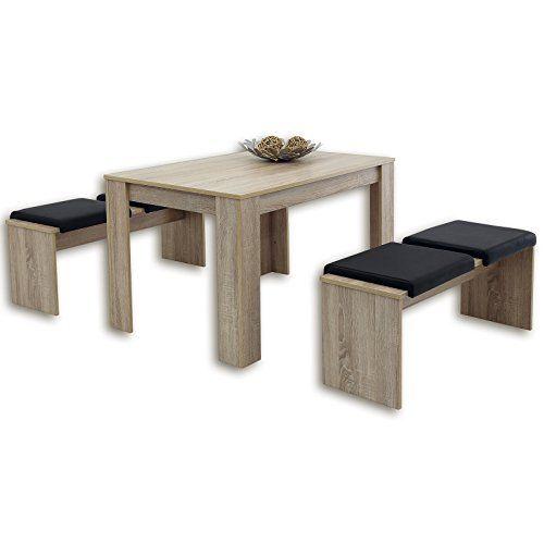 3-teilige Tischgruppe LILLE - Sonoma Eiche Beliebte Produkte zum