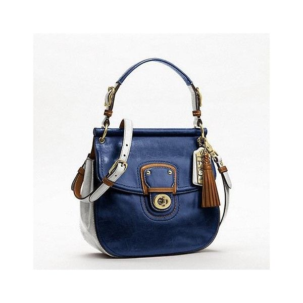 Coach Leather Colorblock New Willis ❤ liked on Polyvore