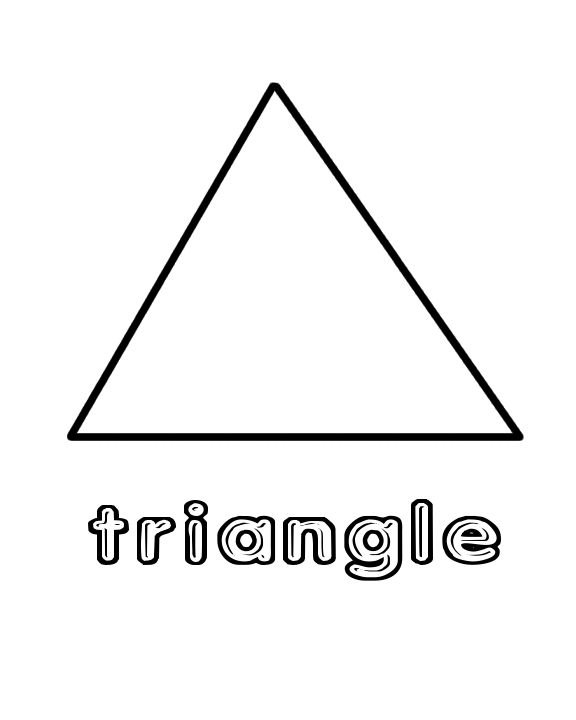preschool triangle worksheet : Shapes Color Page : Home Preschool: October : Pinterest