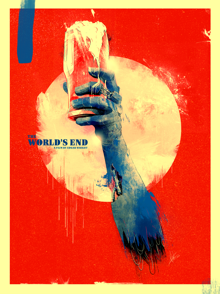 Image Of The World S End Fan Art Graphic Poster Film Posters Art Alternative Movie Posters