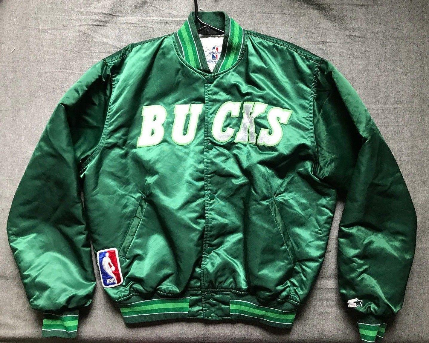 9c177dfc Men's vintage Starter NBA Milwaukee Bucks satin jacket size XL ...