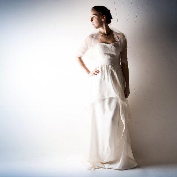 2f8a0304932c Tulle wrap, Tulle stole, Wedding wrap, white shrug, tulle shrug, Ivory  Bridal…