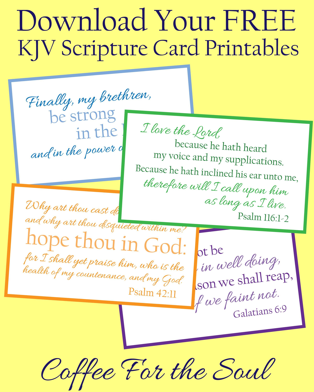 Free KJV Scripture Card Printables | Printable | Scripture ...
