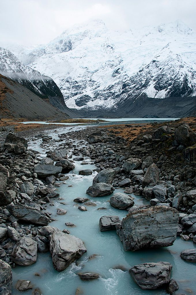 New Zealand glacial river