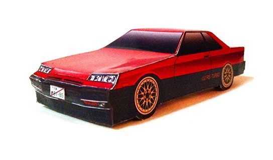 Simple Nissan Skyline R30 RS-Turbo Paper Car Free Vehicle Paper Model Download - http://www.papercraftsquare.com/simple-nissan-skyline-r30-rs-turbo-paper-car-free-vehicle-paper-model-download.html#Car, #Nissan, #NissanSkyline, #NissanSkylineR30, #PaperCar, #VehiclePaperModel