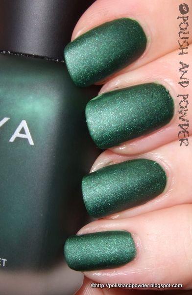 Veruschuka by Zoya - matte emerald green. amazing.
