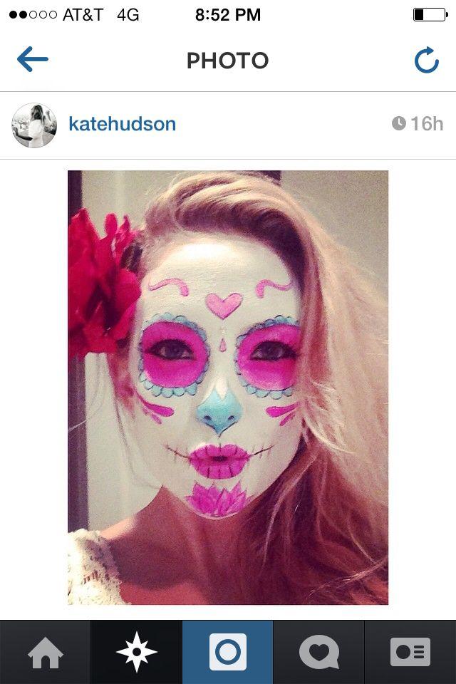 Sugar skull face paint Halloween ideas Pinterest Sugar skull - face painting halloween ideas