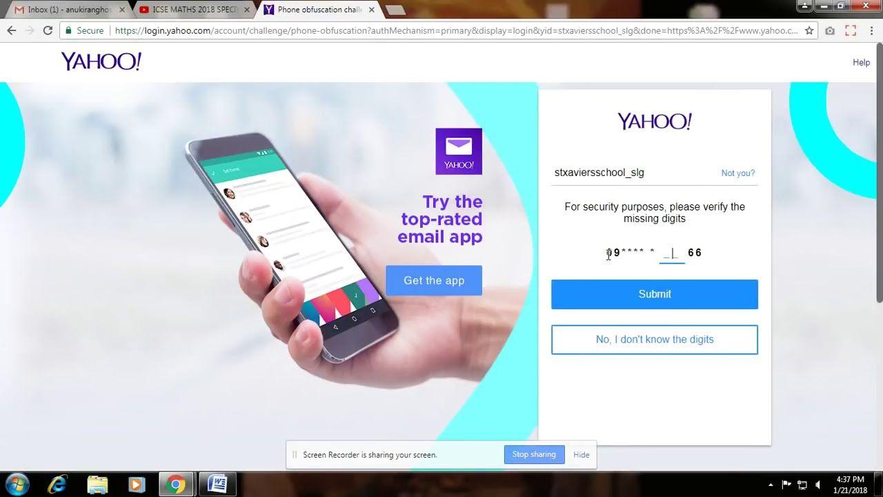 How to hack YAHOO account 2018 18889591461 Youtube