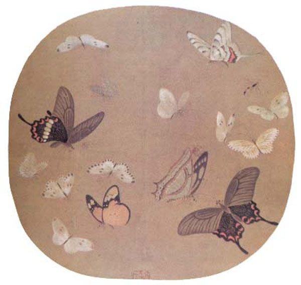 Li Anzhong, Butterflies, Song Dynasty