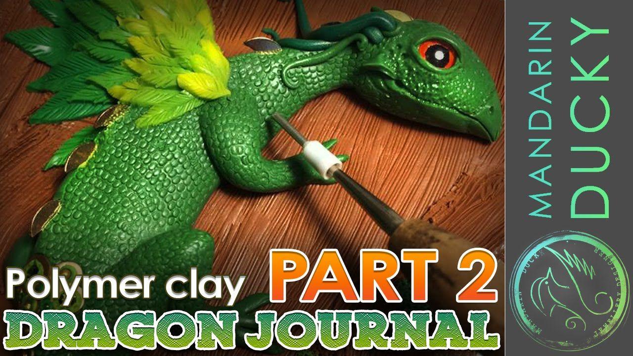 DRAGON JOURNAL TUTORIAL (Part 2) Polymer Clay by Mymandarinducky  ポリマークレ...