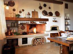cucina rustica con camino - Cerca con Google | fireplace in the ...