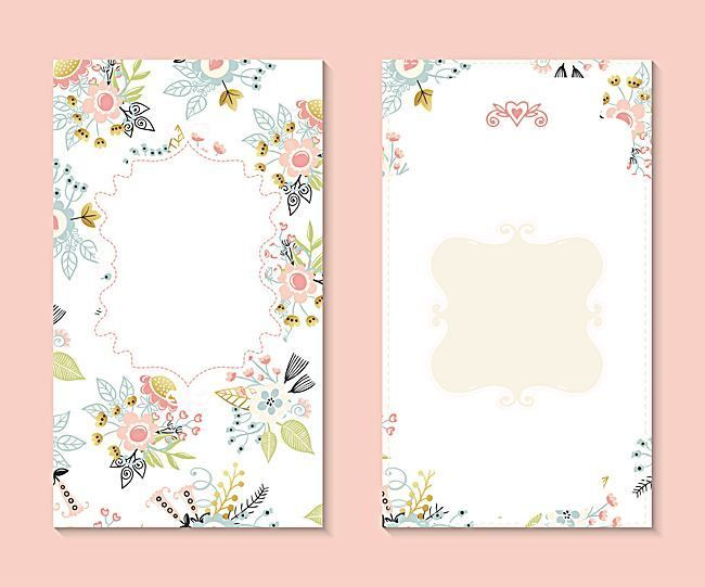 Vector Art flowers fresh floral wedding invitation background - fresh wedding invitation vector templates free download