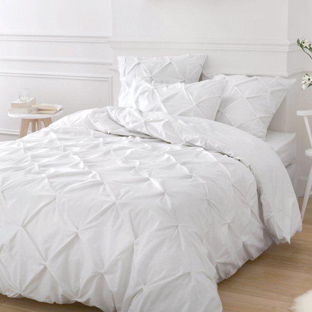 housse de couette blanche taille 240x220 cm 260x240. Black Bedroom Furniture Sets. Home Design Ideas