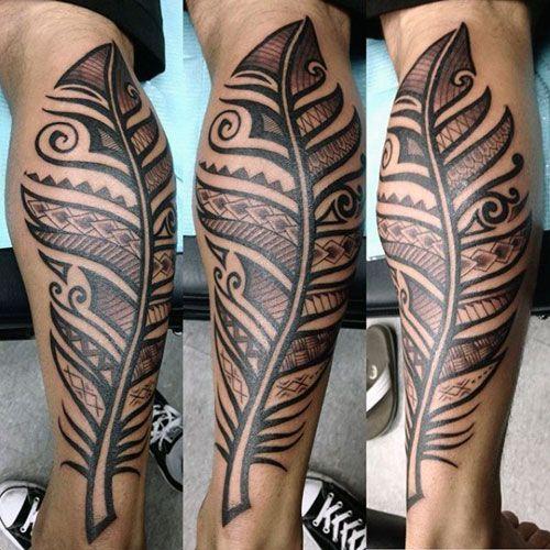 Maori Feather Tattoo: 27 Feather Tattoos For Men 2018