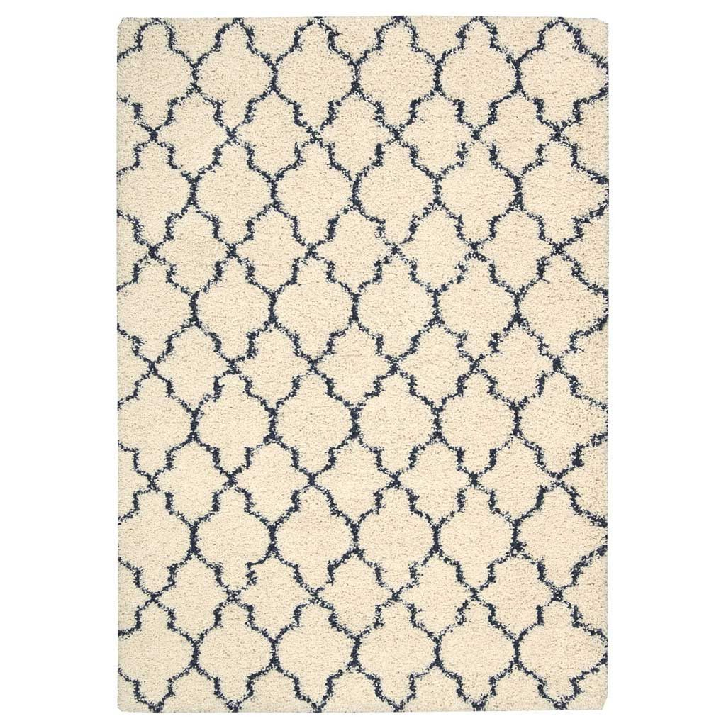 Amore Shaggy Rug In Ivory White And Blue Area Rug Decor Shag Area Rug Area Rugs