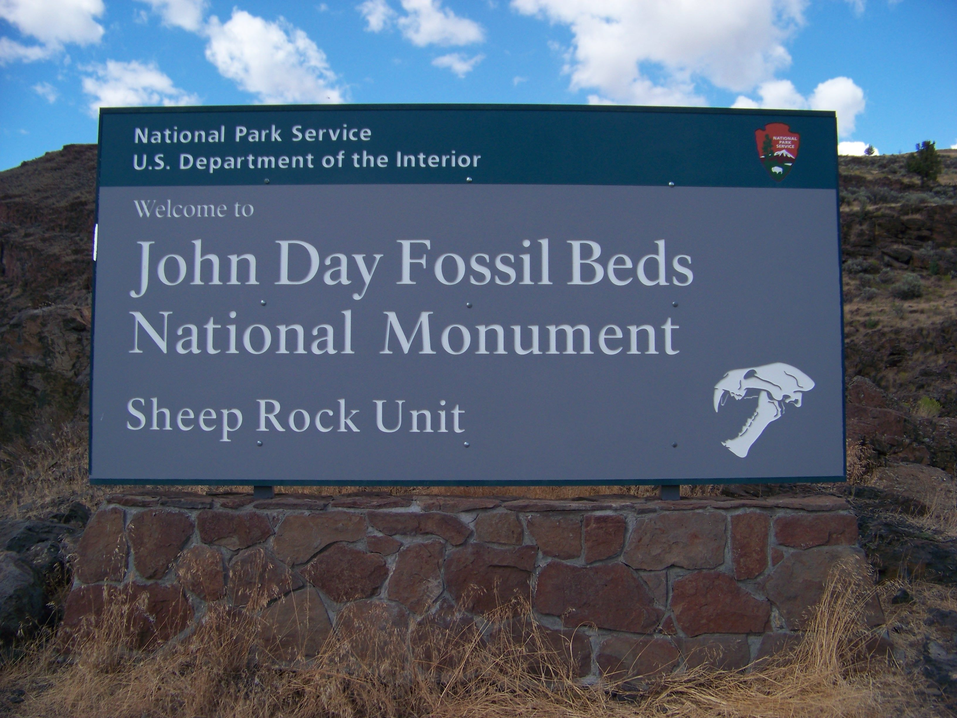 John Day Fossil Bed National Monument, Wheeler County, Oregon - The monument's 13,944 acres encompasses three units: Sheep Rock Unit 8,843 acres, Painted Hills Unit 3,132 acres, and Clarno Unit 1,969 acres.