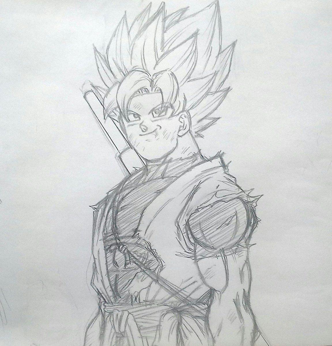 Super Xeno Goku | dbz | Pinterest | Dragon ball, Dragones y Lápiz