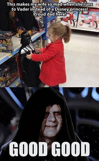 The Emperor Is Pleased And Dad Too Funny Star Wars Memes Star Wars Women Star Wars Memes