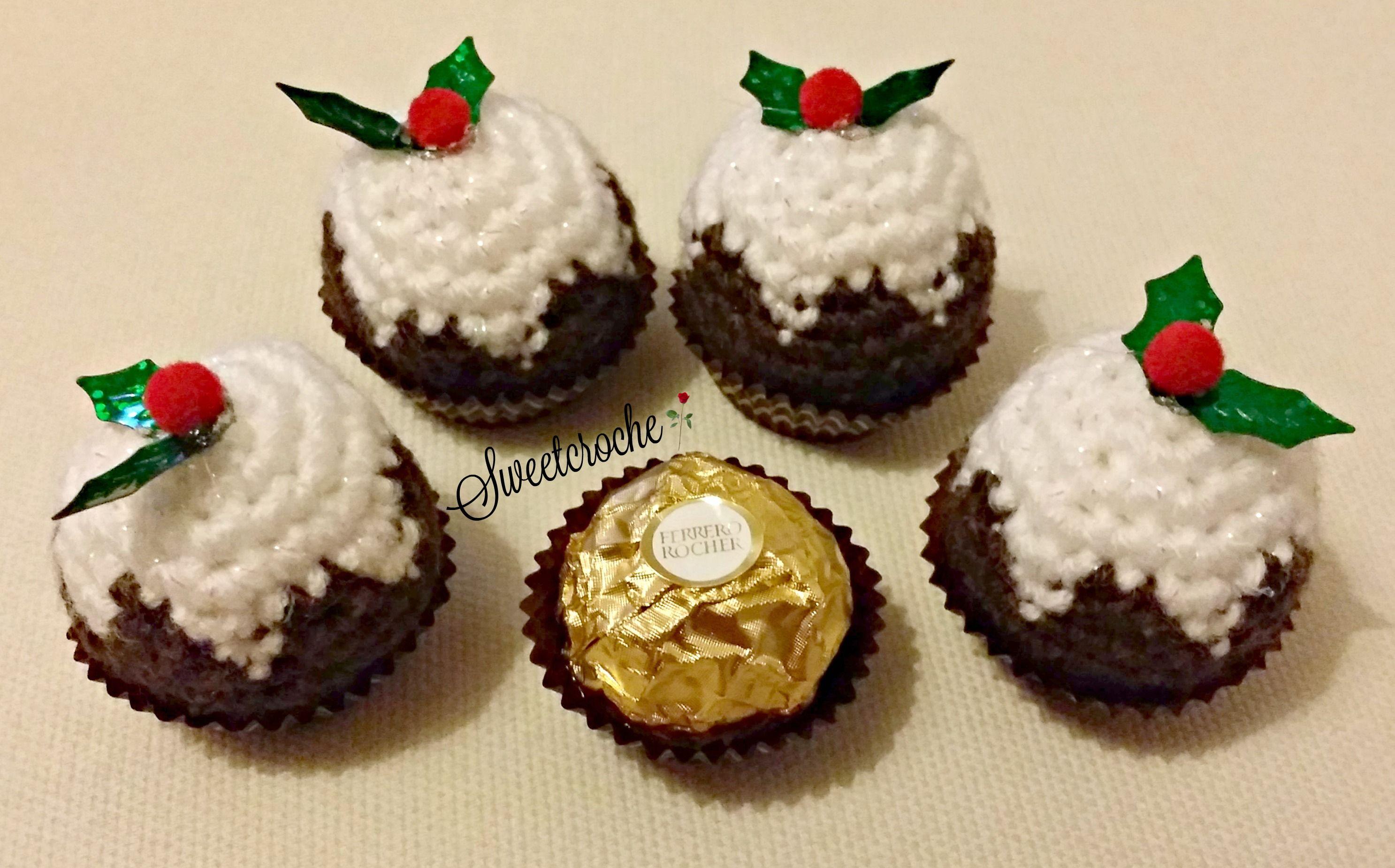 Christmas Knitting Patterns For Ferrero Rocher.Ferrero Rocher Christmas Pudding Cover Crochet Christmas