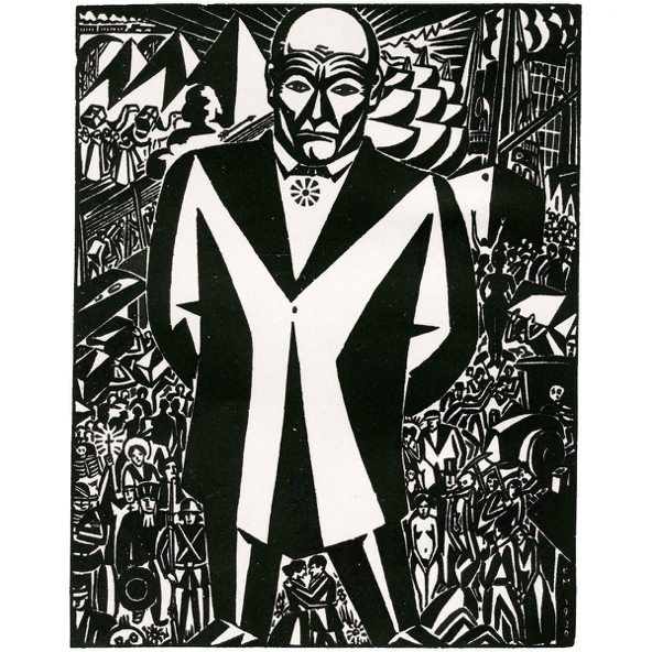 Frans Masereel, 'Businessman', woodcut