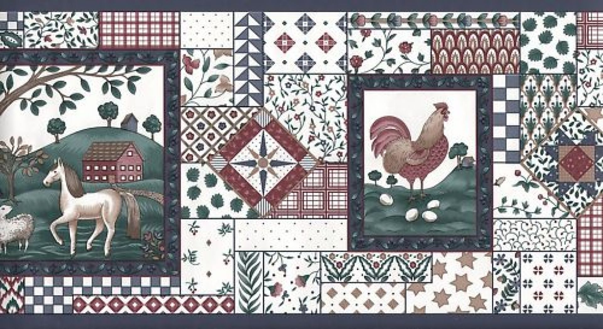 Country Wallpaper Border | Download Imperial Country Kitchen Wallpaper  Border Ebay !