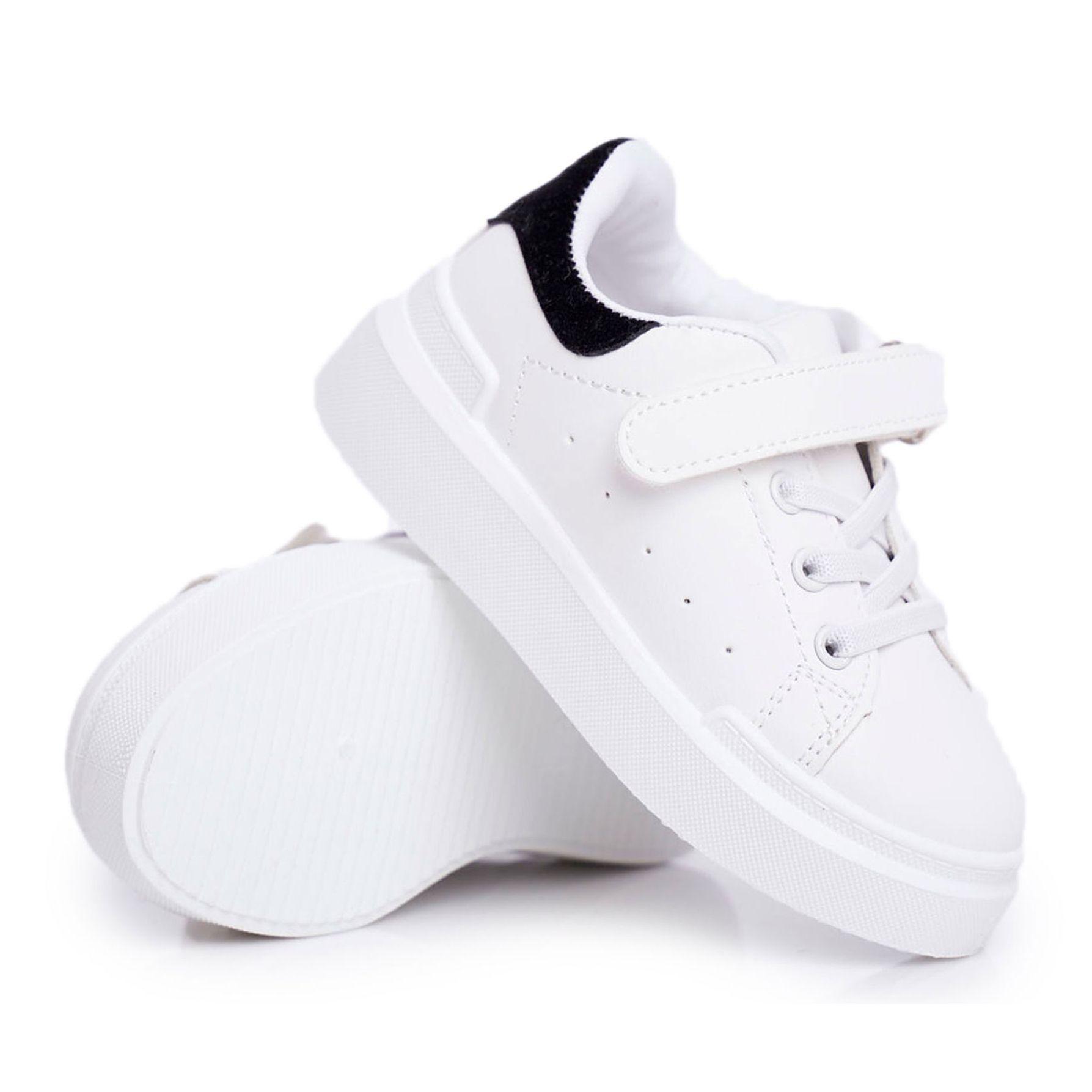 Frrock Obuwie Sportowe Dzieciece Mlodziezowe Na Rzep Biale Bilbo Czarne Adidas Stan Adidas Stan Smith Shoes