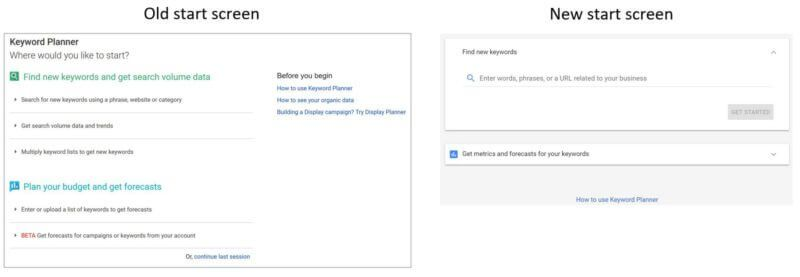 Adwords Keyword Planner Update Appears To Be Rolling Out In The New Interface Keyword Planner How To Plan Digital Marketing