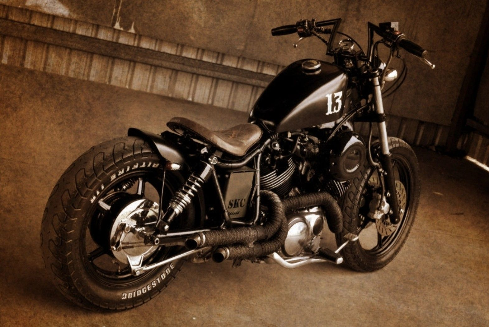 for the Middle sector, Virago XV750s stock gas tank is