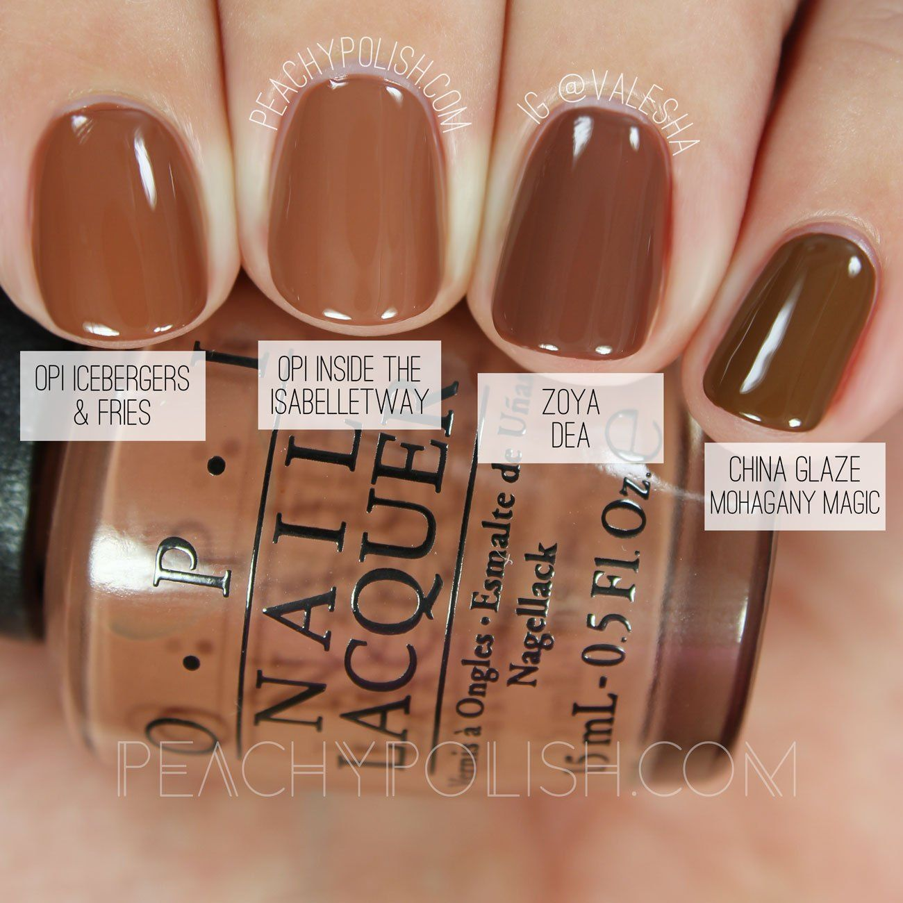 Opi Inside The Isabelletway Washington D C Collection Comparisons Peachy Polish How To Do Nails Brown Nails Nail Polish
