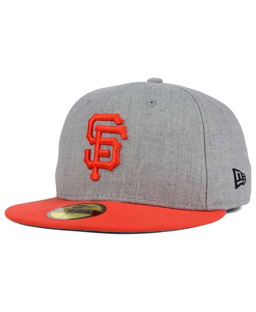 best service a32cd 90fe9 New Era San Francisco Giants Heather Team Color 59FIFTY Cap