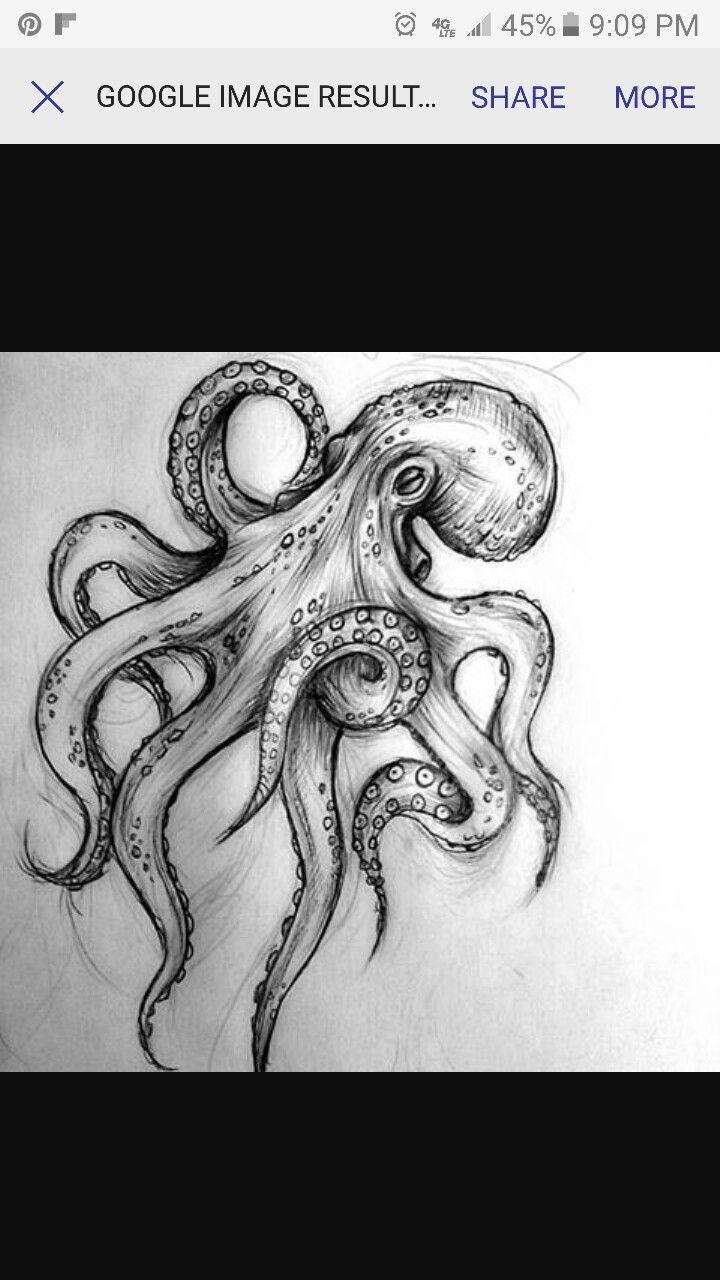 Photo of Desenho de polvo  Tattoagem fundo do mar #tattoagem#desenho#papelembranconaofazh…