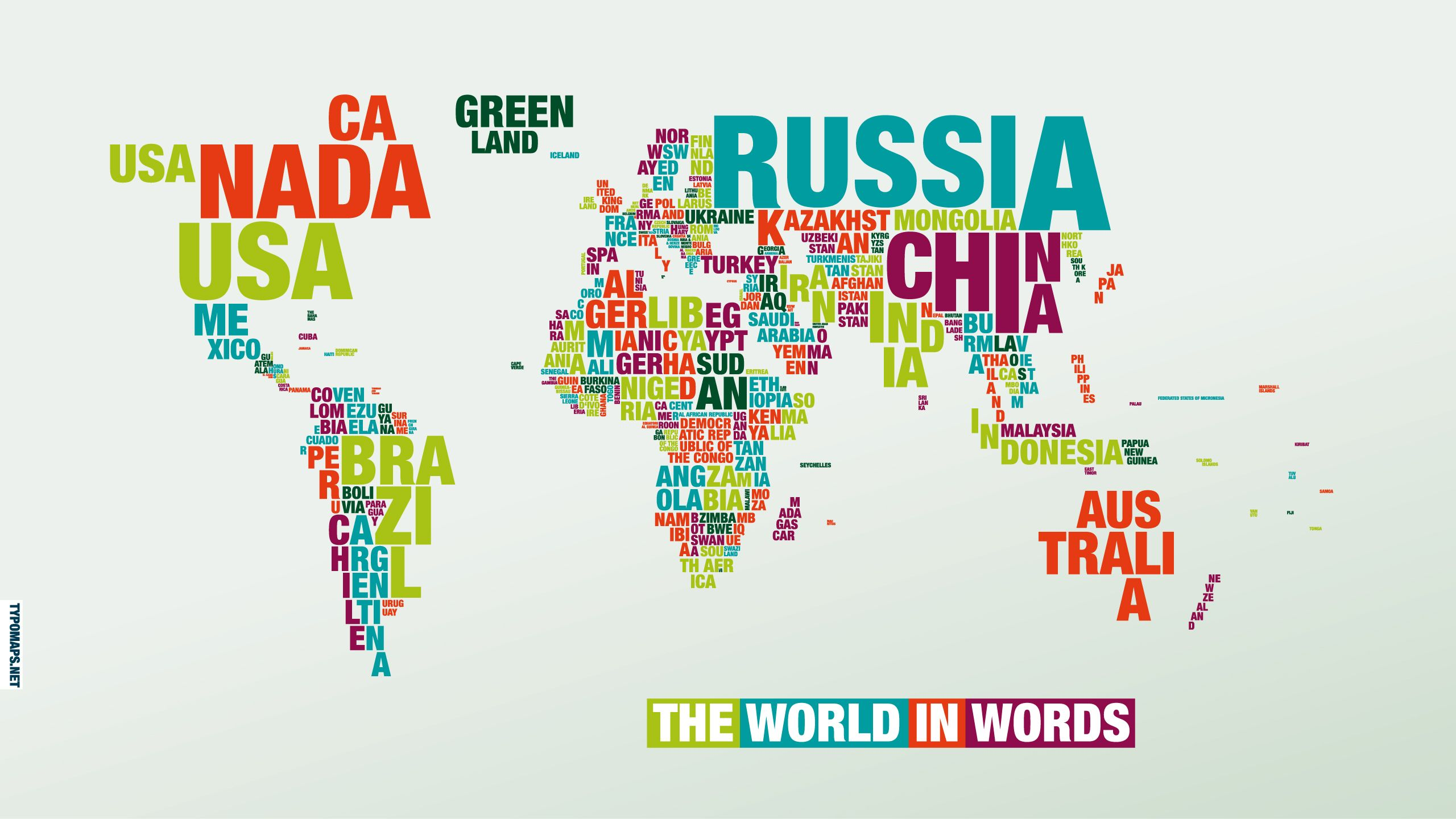 World in words beautiful infographics pinterest infographics world map typomaps double sided gumiabroncs Gallery