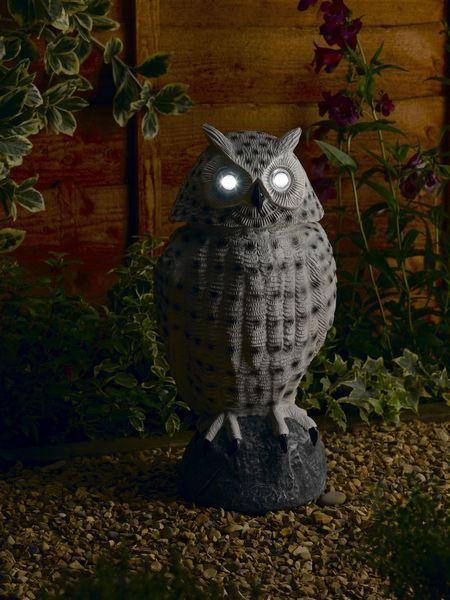 £29.99 Smart Solar Snowey White Owl With Moving Head U0026 Eyes As Spot Lights /