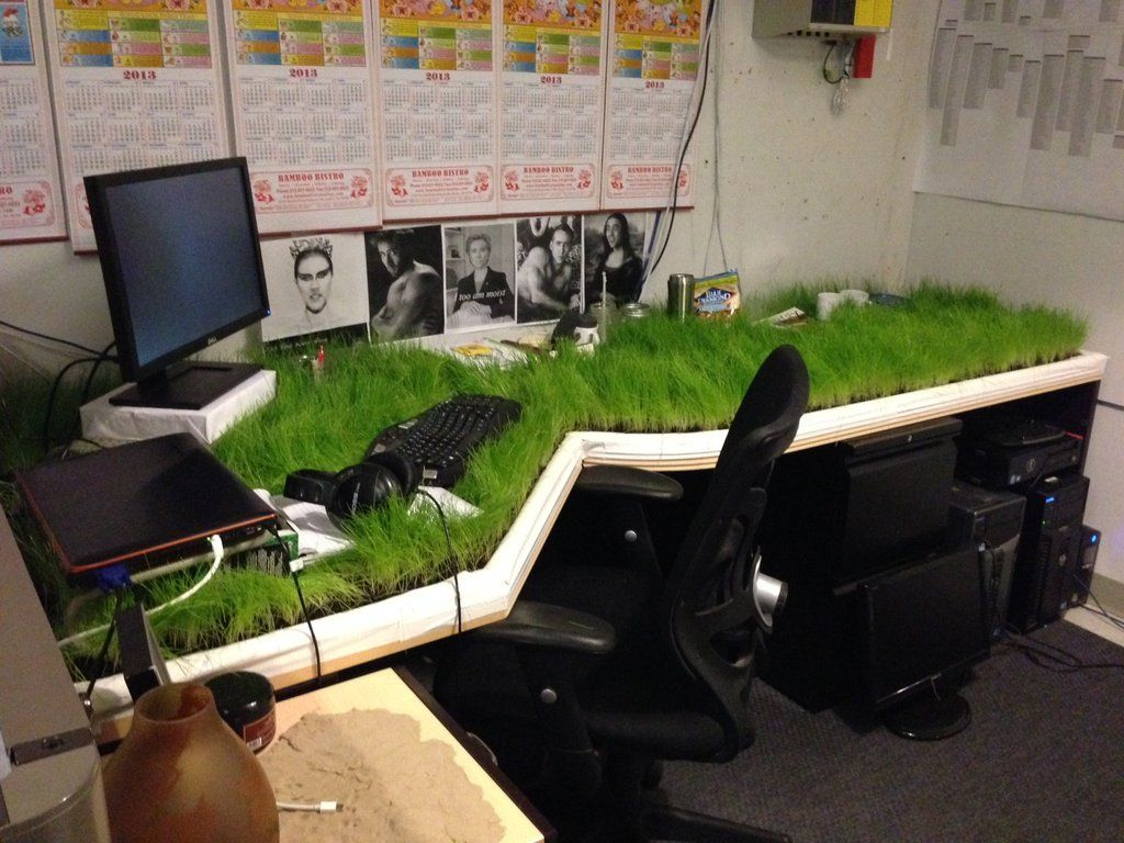 Grass Desk Prank Imaginationarium Of Play Pinterest