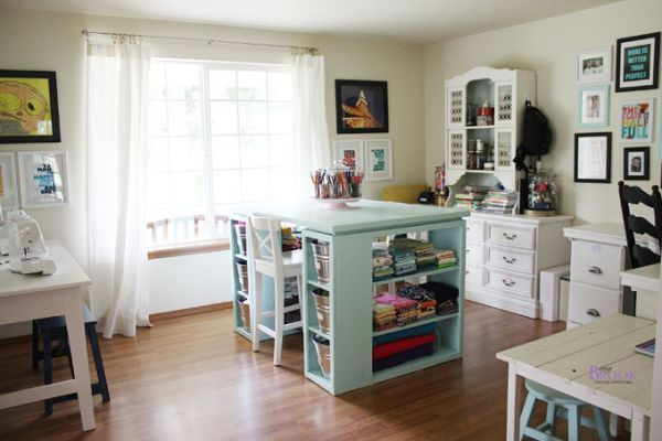 Craft Room Design Ideas Oh I like this - other tables for different ...