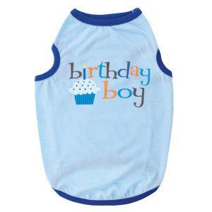 Top PawTM Blue Birthday Cupcake Tank