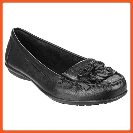 Hush Puppies Womens Ladies Ceil Mocc Kilty Slip On Loafers 8 Us Black Loafers And Slip Ons For Women Amazon P Loafers Loafers For Women Dress Shoes Men